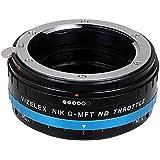 Adaptador de montura de lente de densidad neutra Vizelex del acelerador de Fotodiox Pro - Nikon G (FX, DX y anteriores para) para objetivos a Micro-4/Soporte de 3 cámaras (como OM-D E-M10, Lumix GH4, y Black Magic Pocket) - y e-readers de Variable de filtros de densidad neutra (nd2-nd1000)