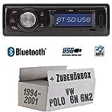 VW Polo 6N + 6N2 - Autoradio Radio Caliber RMD020BT - Bluetooth   MP3   USB   Einbauzubehör - Einbauset