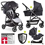 Hauck 11-teiliges Kinderwagen Set 3in1 - Rapid 4S Plus Trio Set -...