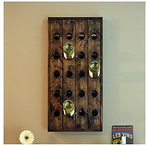 CYJZ® American Country Wall Hangers rétro en bois massif Wine Rack Cabinet de vin Creative Bar suspendu sur le mur Wine Rack Élégant et beau