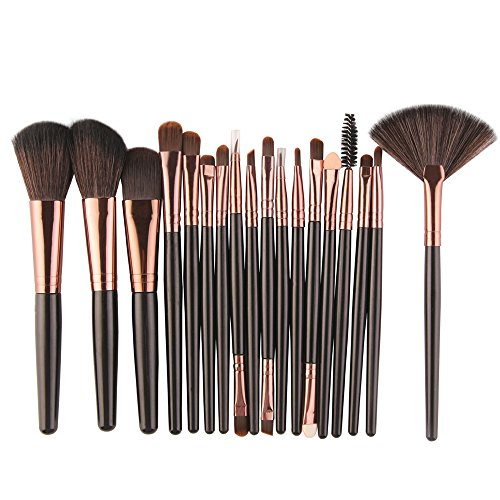 VJGOAL Damen Neue 18-TLG Make-up Pinsel Set Multifunktional Werkzeuge Make-up Kulturbeutel Wolle Make Up Pinsel Set ()