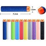 Emob Universal Soft Eva Foam Darts Bullet for All Toy Gun (Assorted Colour, SKSK_198282) - 30 Pieces