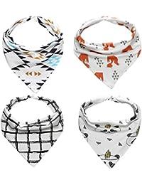 Baberos, Dragon868 4 piezas impermeable triángulo bebé niños bandana baberos alimentación saliva toalla