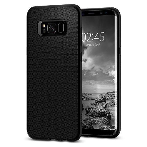 Spigen Samsung Galaxy S8 Plus Hülle, [Liquid Air] Silikon Passgenau TPU Handyhülle Schutzhülle für Samsung Galaxy S8 Plus Case Black (571CS21663)