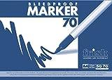 Frisk Bleedproof-Marker-Block, 70-g/m&sup2, A4,t, weiß