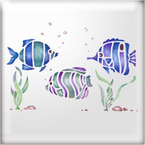 the-stencil-studio-tropical-fish-border-stencil-reusable-stencil-size-small-a4-10441s