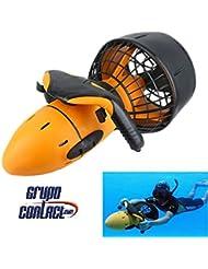 Scooter submarino, profundidad 30 m. con alarmas sonoras, doble velocidad, instrucciones castellano