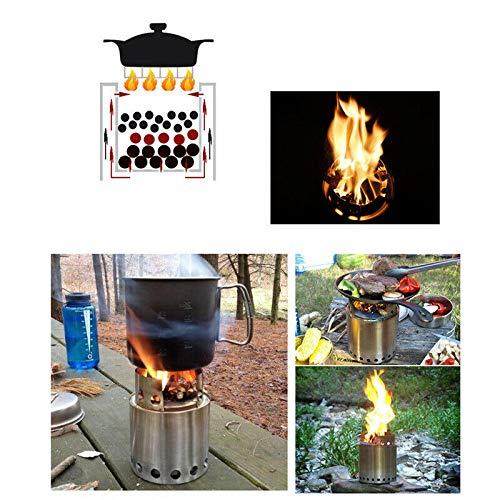 ELECTROPRIME 1*Outdoor Portable Folding Wood Burning Stove Alcohol Camping Hiking Picnic Tool