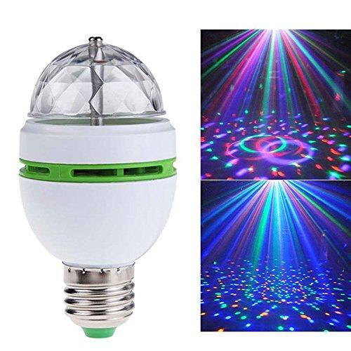 Bombilla LED de 3 W RGB con cambio de color, bombilla giratoria mágica de colores para KTV, bola, discoteca, casa, estado de ánimo e iluminación ambiental