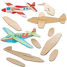 Baker Ross AT808 Planeur à Décorer, des arts et de l'artisanat pour les enfants à colorier, des remplisseuses de sacs de fête, des jeux et des prix (pack de 8)