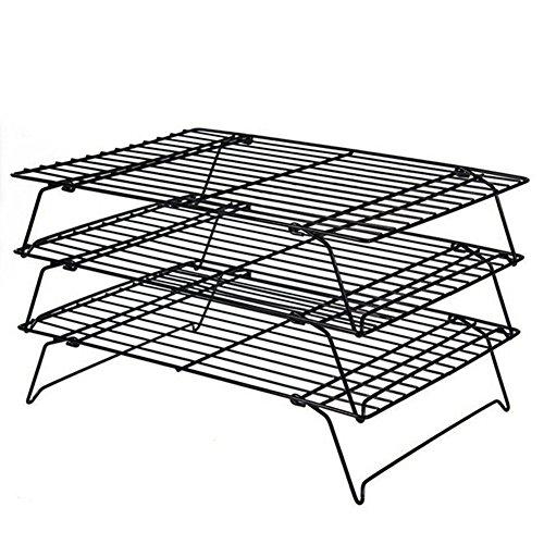 daixers 3-Tier-stapelbar Kühlung Rack, Backen Racks 16x 25,4cm (Tier-rack-kühlung)