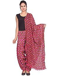 Rama Women's Cotton Printed Pink Full Patiala And Dupatta Set