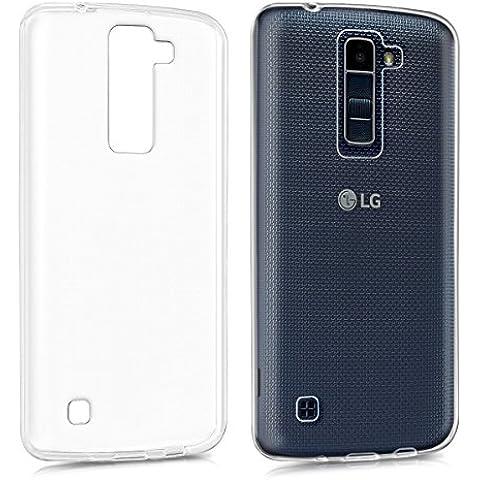 kwmobile Funda de TPU silicona chic y sencilla para el LG K8 en transparente