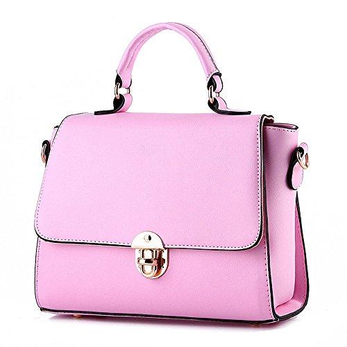 koson-man-damen-pu-leder-vintage-beauty-schnalle-tragetaschen-top-griff-handtasche-rose-pink-kmukhb0
