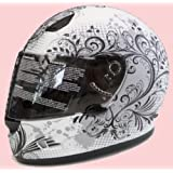 Damen Motorradhelm Motorrad Helm Matt Imagine Gr. S
