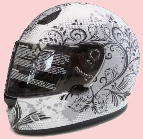 *Damen Motorradhelm Motorrad Helm Matt Imagine Gr. S*
