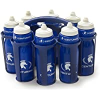 Centurion Team 8 Water Bottles and Carrier - Blue