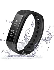 Activity Tracker Movaty ID115 Smart Bracciale,Waterproof IP67 Fitness Sport watch,Pedometro,calorie counter,chiamate SMS promemoria,Bluetooth 4.0,Android e iOS, per iPhone Android Smartphone
