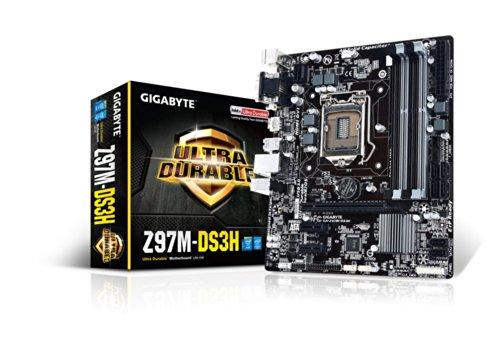 Gigabyte GA-Z97M-DS3H Motherboard (MATX VGA, SND, GLN, U3 SATA, 6GB, DDR3 Speicher) (Gigabyte Intel Matx Motherboard)