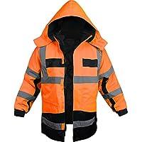 """Outdoor- & Arbeitsbekleidung 4-in-1 Warnschutzparka """"Stonefield"""" [S-4XL]"""
