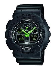 Casio G-Shock – Reloj Hombre Analógico/Digital con Correa de Resina – GA-100C