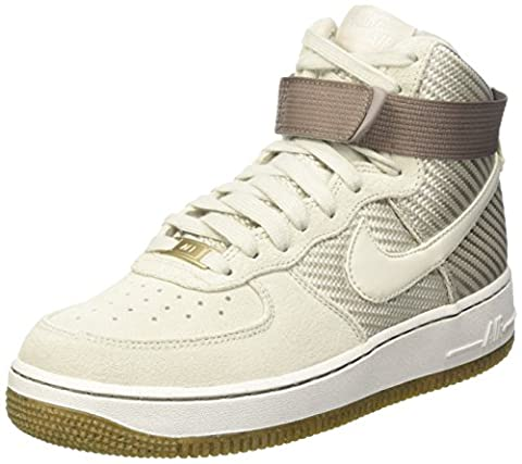 Nike Damen Wmns Air Force 1 Hi Prm Gymnastik, Bianco (Light Bone), 40 EU