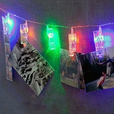 HANGQI 20LED Photo Peg Clip String Light Party Wedding Decor