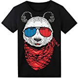 LED T Shirt Sound Activated Panda EL T Shirt Light UP Shirt Glow Shirt for Party Hiphop Halloween Cosplay Birthday Gift