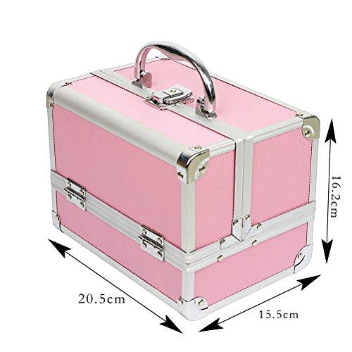 Zoom IMG-1 hbf valigetta trucchi rosa accessori
