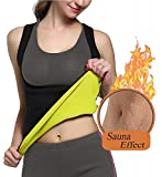 Shaper per il corpo snellente da donna, tuta da allenamento Tummy Control Sweat Tank Top Shapewear - No Zipper Black Sauna Suit