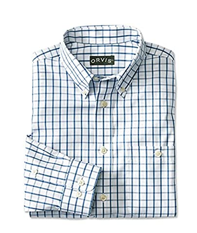 Orvis Pure Cotton Wrinkle-free Pinpoint Oxford Shirt, Medium Blue,