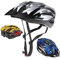 MaMaison007 Bici bicicletta MTB PVC EPS casco visiera 3 colori all