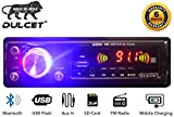 Dulcet Fixed Panel Single Din Mp3 Bluetooth/USB/FM/AUX/MMC Car Stereo with Premium 3.5mm Aux Cable DC-A-4006 Car Stereo