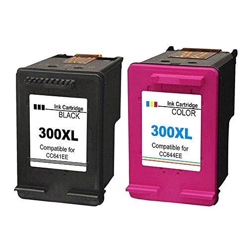 Ink_seller Remanufactured HP 300XL 300 XL Ink Cartridges 2-Pack  Black/Tri-color for HP DeskJet D1660 D2660 D5560 F2480 F4280 F4580 HP Envy  100 110 114