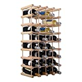 COSTWAY Weinregal aus Holz Flaschenregal Weinständer Holzregal Weinschrank Flaschenständer für 40 Flaschen