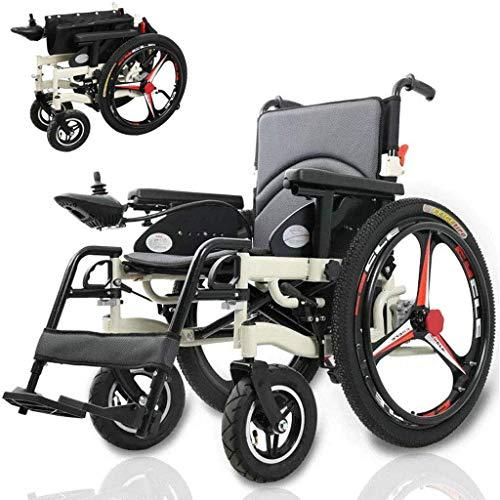 Frpower Elektro-Rollstuhl, klappbaren tragbarer Elektrorollstuhl 250W * 2 Dual Motor Drive mit elektrischer Energie oder zur Verwendung als Handbuch für Behinderte ältere Aluminiumlegierung -