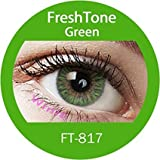 1 X Standard Screw Top Contact Lens Storage Case With L and R Caps (CE Approved) With Green 3 Tone Eye Accessories exclusive to Enno Vision ® TM
