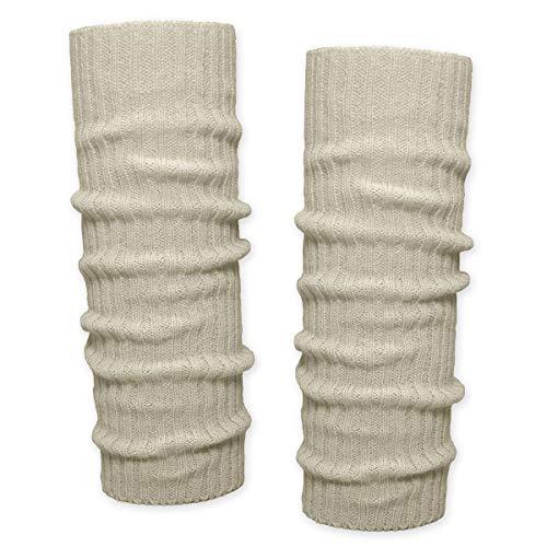 SoulCats® 1 Paar Grobstrick Bein Stulpen unifarben in der Farbe beige