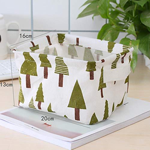 QCBLM Spielzeugkorb,Tuch Wasserdichtes Bett Kleinen Ablagekorb, Schlafzimmer, Schreibtisch Ablagekorb@H_20 * 13 * 16 cm