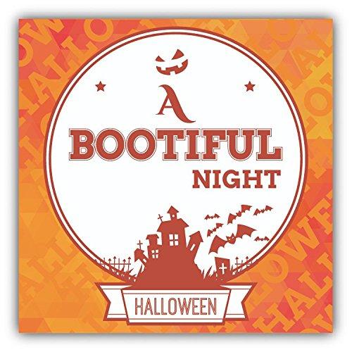 Beautiful Night Halloween Slogan Hochwertigen Auto-Autoaufkleber 12 x 12 cm