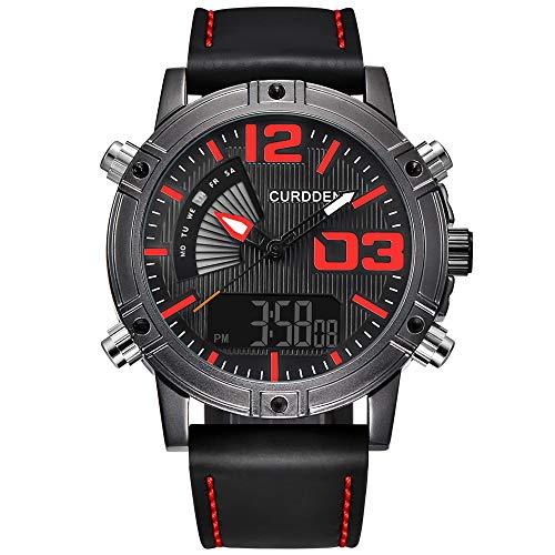 Waselia Herren Schwarz Uhren Männer Militär Wasserdicht Sport Groß Chronograph Armbanduhr Mann Luxus Mode Datum Kalender Analoge Quarz ()