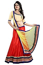 TexStile Women Party wear Semi-stitched Lehenga cholli (TEX_Choli_13_Red And Yellow_Free Size)