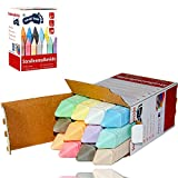 Pastelli di strada in 12 colori diversi Pastello da strada ca. 10 x 2 x 2 cm Gesso per la pittura per strada