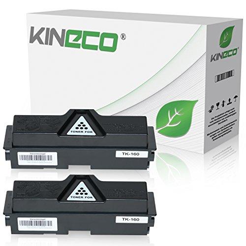 Preisvergleich Produktbild 2 Toner kompatibel zu Kyocera TK-160 TK160 für Kyocera Ecosys P2035DN, Ecoxys P2000 Series, FS-1120DN - 1T02LY0NL0 - Schwarz je 2.500 Seiten