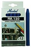 Markal 44010400 FM.120 - Lote de tizas, 12 unidades, color azul