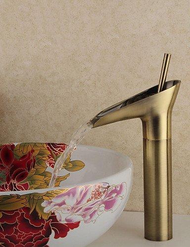 Winebowl Style Antique Messing Hot Cold Wasserhahn - Bronze - Antique Nickel Gebürstet Glas
