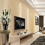 YUELA Bekleidungsgeschäftshotelbarhintergrundwand Der Dreidimensionalen Starken Ziegelsteintapete Moderne Chinesische Ziegelsteintapete, C