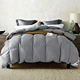 Amazon Brand: Umi. Essentials Goose Feather and Down Duvet with 100% Cotton Down-Proof