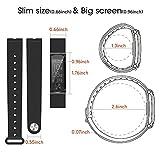 iHealth MA-Q68HR0-00 i-gotU, Q-Band Q-68HR Sport Wristband für Bluetooth fähige Geräte, Schwarz
