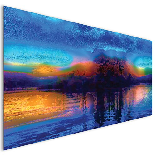 blaue-flecken-moderne-abstrakte-acryl-glas-wand-kunst-xl-140cm-x-70cm